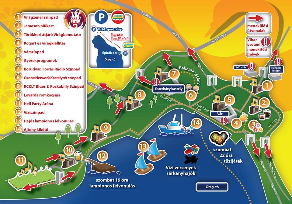 tata térkép látnivalók Víz Zene Virág Fesztivál 2013, Tata   Fellépők, Programok  tata térkép látnivalók